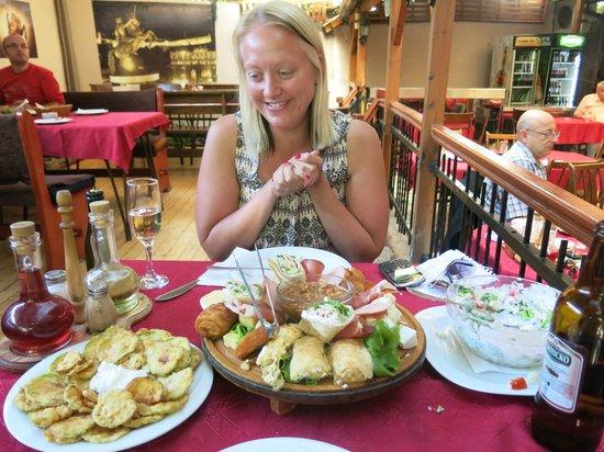 Restaurant Kaj Marsalot: Mixed starter plate is brilliant value at just over £5 (middle item)