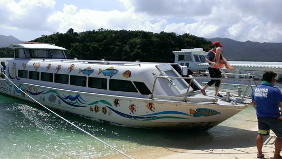 Kabira Marine Service : 20人くらい乗ってました。