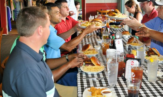 Enjoying lunch inside - Picture of Big Jim's BBQ, Burgers ...