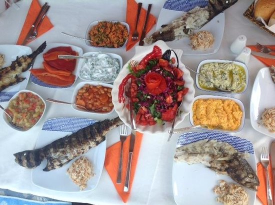 Boat Trips by Captain Ergun : Beautiful food.