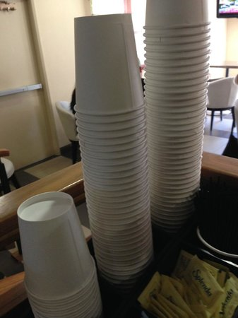 Hotel Indigo Napa Valley: no sleeves for the cups