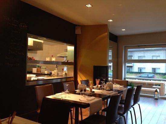 Restaurant Open Keuken Antwerpen : zicht op de open keuken Foto van Christof s Bistro