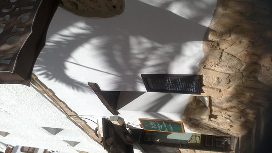 Tasca Moraira: looking up from the outdoor seating area