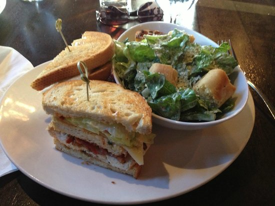 Saltlik : Triple Decker Sandwich, Side Caesar Salad