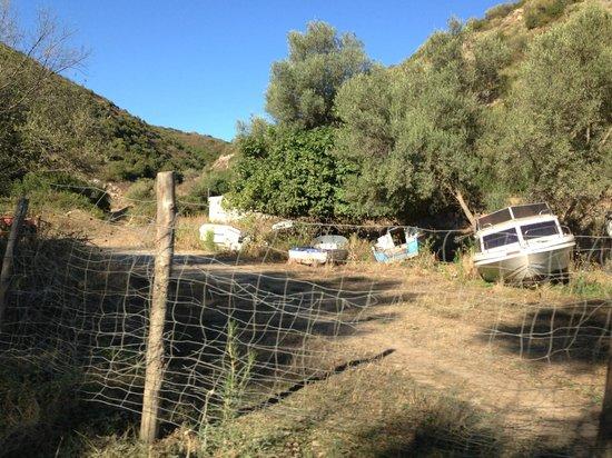Camping La Pinède : décharge