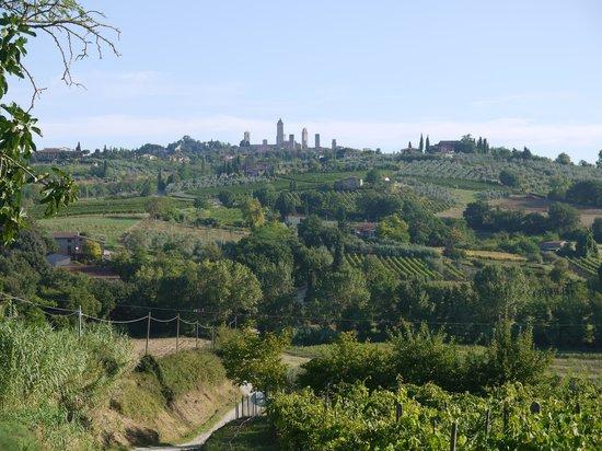 La Buca de Montauto: View of San Gimigano from La Buca