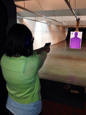 Three Sights Indoor Shooting Range: nice shot