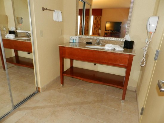 Hampton Inn and Suites Arcata, CA: Sink area separate from the bathroom
