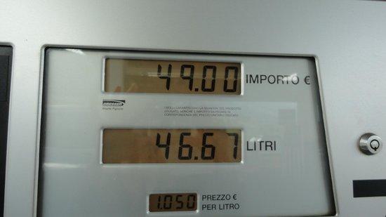 Hotel Astoria: Tax-free petrol price