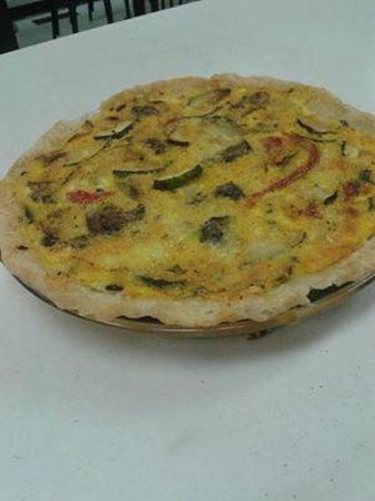Water St. Cafe: One of our many specials using only the freshest of ingredients....the Amazing Vegetable Quiche.