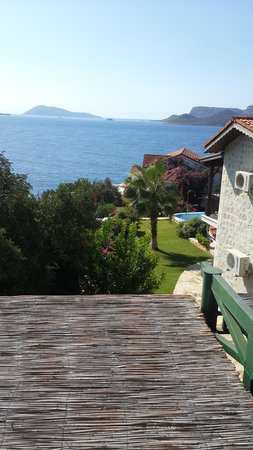 Kas Diva Residence Hotel Restaurant: odadan bakış