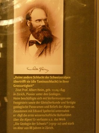 Altes Bad Pfäfers: Schautafel