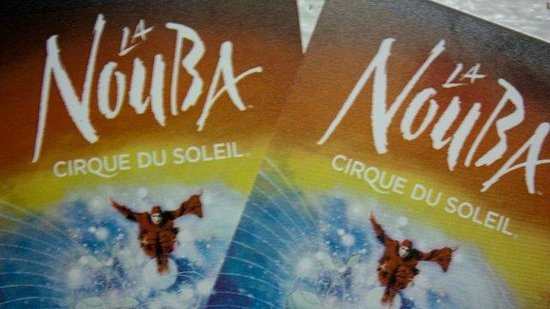 La Nouba - Cirque du Soleil: Our tickets