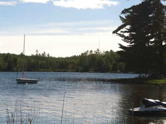Dillman's Bay Resort : View from Dillman's boat launch at point