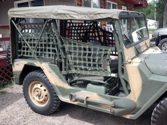 Hazelhurst Pub - Keith's 1971 Jeep - bullet holes