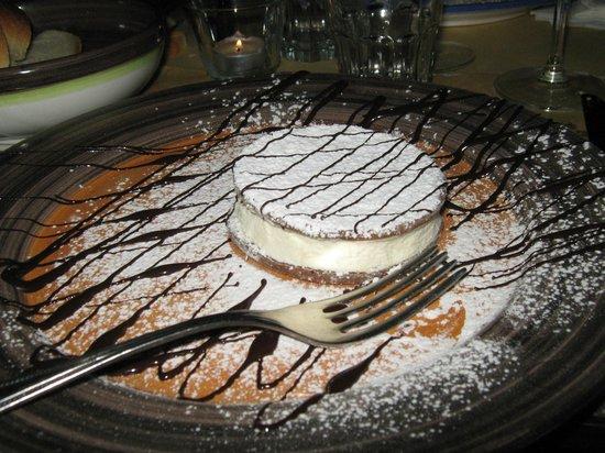 Taverna degli Apostoli: cheesecake alla ricotta di capra