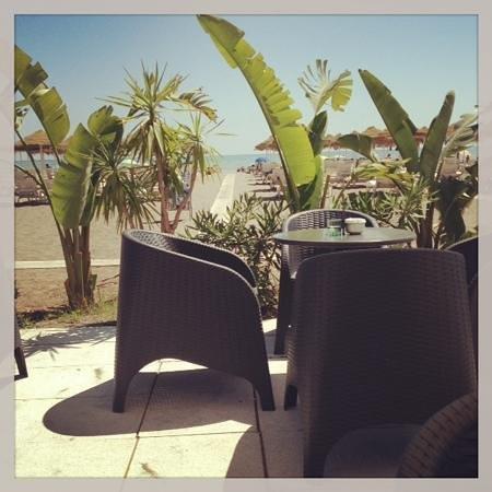 Hotel Tropicana: terrasse du tropicana beach club sur la plage