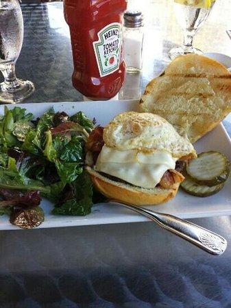Tisha's: bacon egg and cheeseburger
