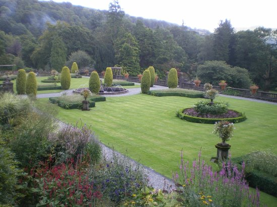 Rydal Hall: The gardens from the terrace