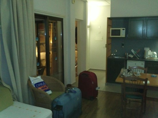 The King Jason Paphos: 1 Bedroomed Apartment - Living Area