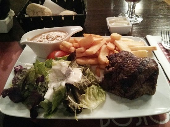Boston Steak House: The rumsteak at €16.35