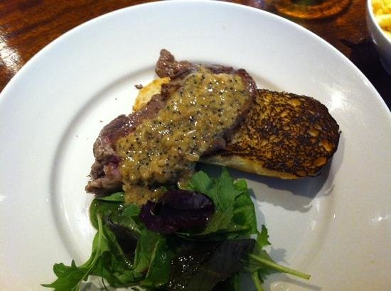 "Ship Inn: Minuite steak with a mustard dressing""!"