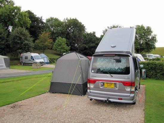 Dornafield Camping Site: Spacious pitch at Dornafield