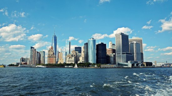 Jerry's Grand Tour of New York City: Manhattan skyline from the ferry
