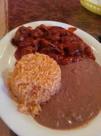Landa's Mexican Restaurant: castillas de puerco de mole rojo
