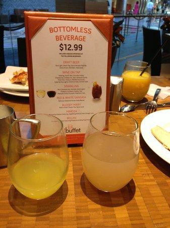 bottomless beverages picture of the buffet at aria las vegas rh tripadvisor com Wynn Buffet aria breakfast buffet review