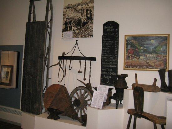 Trail of '98 Museum: Gold Rush era display items