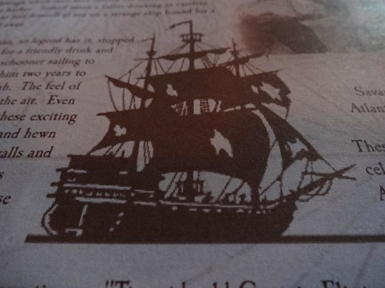 Part Of The Menu Or Place Mats Picture Of The Pirates House