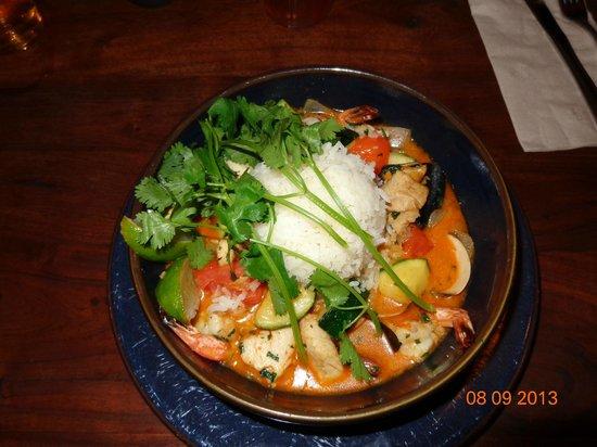 Yak and Yeti: seafood curry