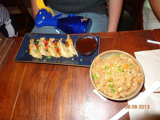 Yak and Yeti: Pot stickers and fried rice