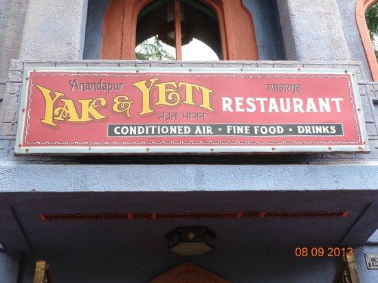 Yak and Yeti: Sign