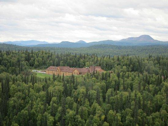 Talkeetna Alaskan Lodge: View from flight-seeing.