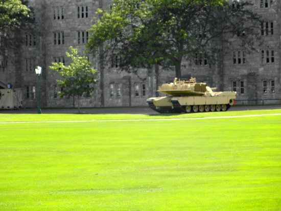 West Point Tours: Tank on parade ground