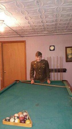 Pendleton Underground Tour: military personal playing pool