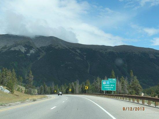 Tivoli Lodge: From Vail, heading towards to Copper Mtn ski area.
