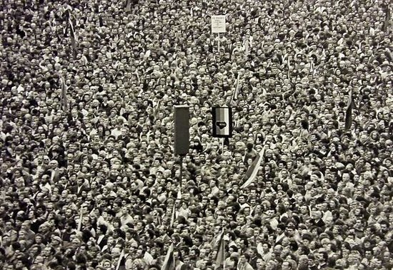 Museo Nazionale della Lituania: Photo of a 1989 freedom rally