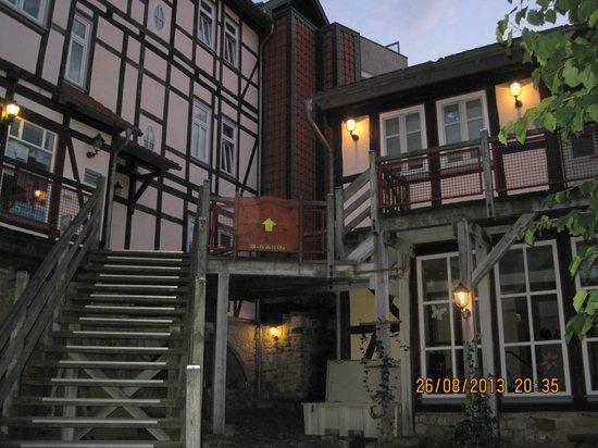 Schlosshotel Blankenburg/Harz: terras