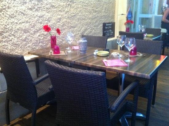 Terra e Mare : la terrasse du restaurant