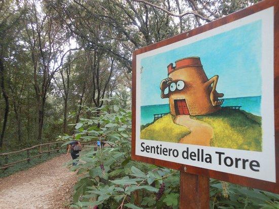 Riserva Naturale di Tor Caldara : cartello