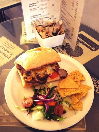 Thirsty One: Hot Toasted Sausage, Tomato & Cheese Ciabatta