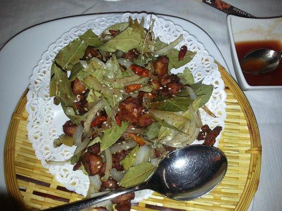 Shanghai : Pollo speziato: un po' asciutto!