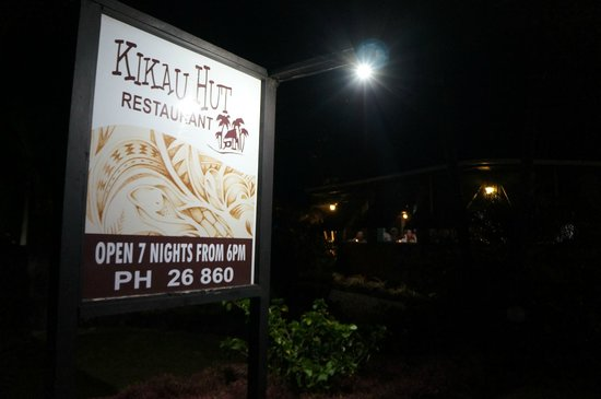 Kikau Hut Restaurant: Restaurant banner