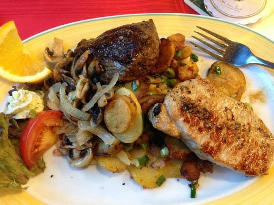 Ibis Hamburg Airport : grill di carne e verdure