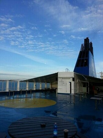DFDS: mermaid bar in the top deck perfect for watching the waves