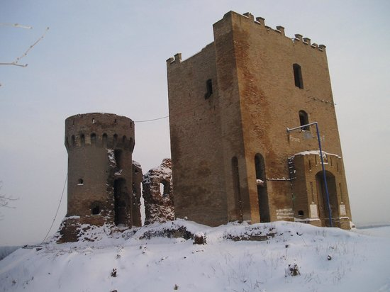Erdut medieval fortress in winter