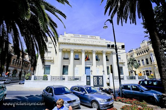 Segway Malaga Tours: Flying past the bank of spain
